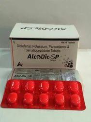 Diclofenac Potassium Paracetamol Serratiopeptidase