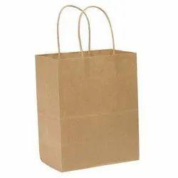 Brown Kraft Paper Bag, For Shopping, Capacity: 1.5 Kg