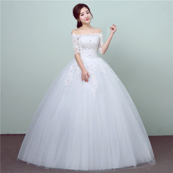 Imported Embroidered Christian Wedding Gown Catholic Gown White Wedding Frock,gz175-10