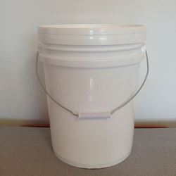 White Plastic Buckets