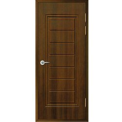 Polished Brown Hinged Wooden Door