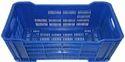 Blue Rectangular Vegetable Crate