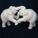 Fighting Elephant Pair In Resin Elephant_31