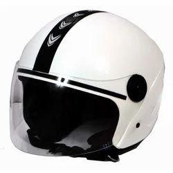 Black And White Bike Helmet