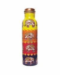 Q7 Jaipuri Meena Print Copper Bottle