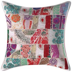 White Hand Embroidered Cushion Covers