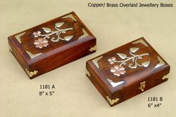 Brass Overlay Jewelry Box