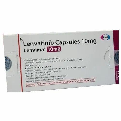 Lenvima Lenvatinib 10mg Capsules, Packaging Type: Box