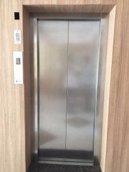 Center opening Metal Lift Door, For Residential