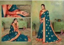 Fancy Designer vichitra silk saree border saree