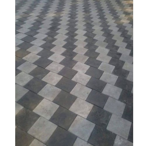 Grey Concrete Square Paver Block, Thickness: 60 Mm