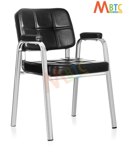 MBTC Beetle Office Executive Visitor Chair in Chrome Finish