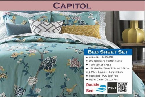 Printed Capitol Queen Bedsheet Size, What Size Is A Double Bed Cover In Cm