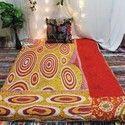 Indian Handmade Quilt - Saree Quilt - Vintage Quilts - Kantha Quilts-Gudri-Lap Throw