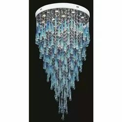 Round Hanging LED Crystal Chandeliers