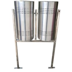 80 L Double Bucket Stainless Steel Dustbin