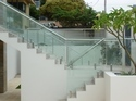 Spigot Glass Staircase Railing Works