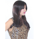22 Black & Maroon Hair Wig
