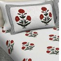 Printed Cotton Hand Block Bedsheets Printing Services, Size: 90x108 Inch