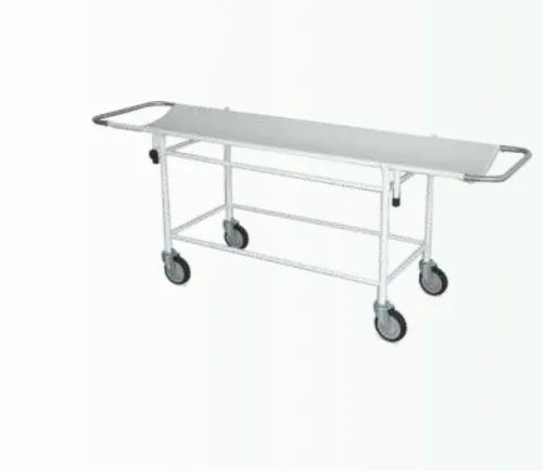 Stainless Steel Indian Surgical IHPT-1153 Stretcher On Trolley for Hospital
