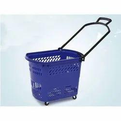 Plastic Shopping Basket Trolley