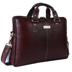 Behide Leather Brown Laptop Briefcase 14 Inch
