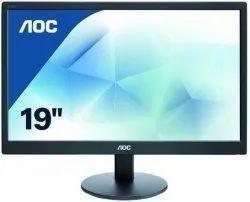 AOC 18.5Inch LED Backlit E970SWNL Computer Monitor, Black, Screen Size: 19-22.9