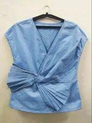 Avikalp Fashion Blue Cotton Top