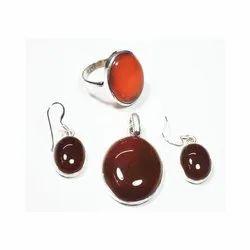Silver Cornolian Earrings