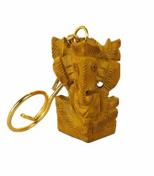Wooden Ganesha Key Chain
