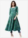 Green Printed Anarkali Suits