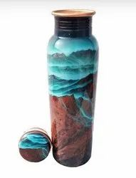 Digital Meena  Print Copper Bottle