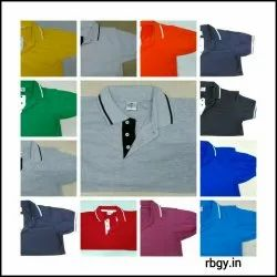 Rbgy Tipping Collar T Shirts, Age Group: Adults