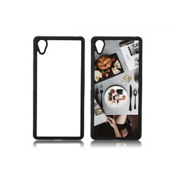White And Black Plastic Sublimation HTC 2D Mobile Cover 626