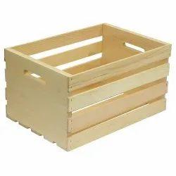 Hard Wood Brown 150kg Rectangular Wooden Pallet Box, For Packaging