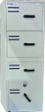 Fire Resistant Filing Cabinet with 1 Security Safe (2 in 1)