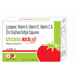 Lycopene and Zinc Sulphate Softgel Capsules
