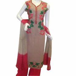 Multicolor Cotton Ladies Suit
