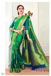 Green Color Art Pattu Silk Saree