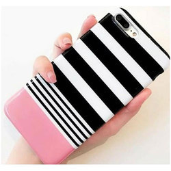 Plastic iPhone 7 Plus Striped Mobile Case