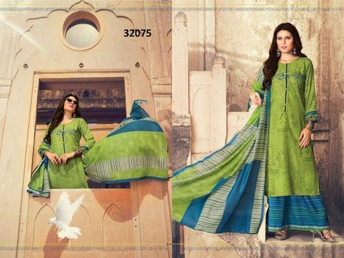 e4f46b1875 Ladies Suits - Pure Lawn Printed Palazzo Salwar Kameez Manufacturer from  New Delhi
