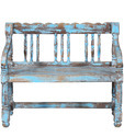 Reclaimed Wooden Bench in Distress Finish