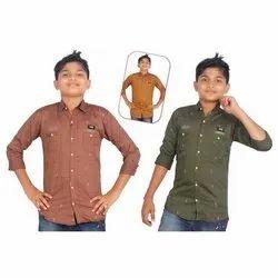 Kids Party Wear Linen Shirt