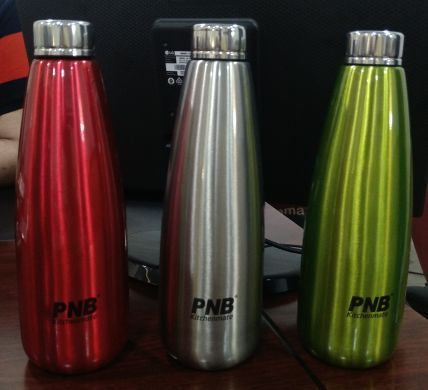 Pnb Stainless Steel Non Insulated Fridge Water Bottle