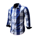 Casual Wear Cotton Full Sleeve Check Shirt, Size: Small