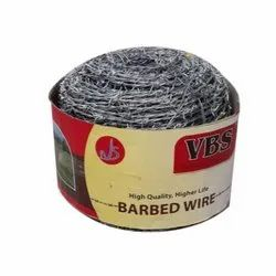Galvanized Iron Barbed Wire(Brand:VBS), Size: 12X12, 12X14