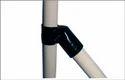 Black 45 Degree Metal Pipe Connectors