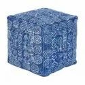 Hand Block Printed Jaipur Pouf Ottomans