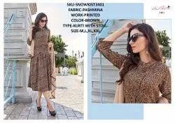Rachna Twill Silk Pattern Cut Kurti With Stole Catalog Kurti For Women