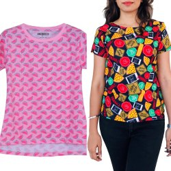 Round Neck Casual Women Cotton And Cotton Blend Tops
